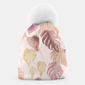 Thumbnail image of Retro blush watercolor botanicals Beanie, Live Heroes
