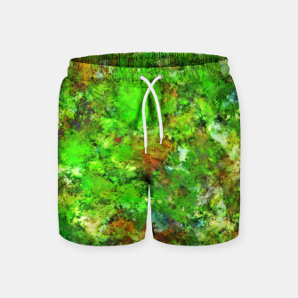 Slippery green rocks Swim Shorts thumbnail image