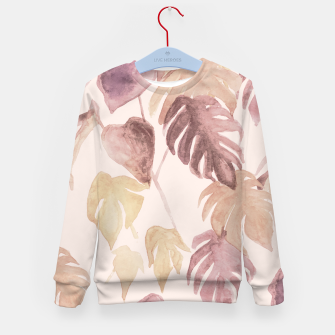 Thumbnail image of Retro blush watercolor botanicals Kid's sweater, Live Heroes
