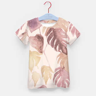 Thumbnail image of Retro blush watercolor botanicals Kid's t-shirt, Live Heroes