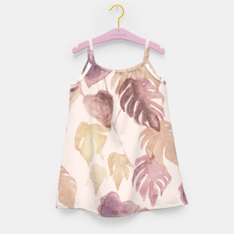 Thumbnail image of Retro blush watercolor botanicals Girl's dress, Live Heroes