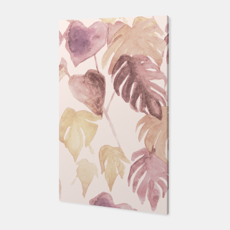 Thumbnail image of Retro blush watercolor botanicals Canvas, Live Heroes