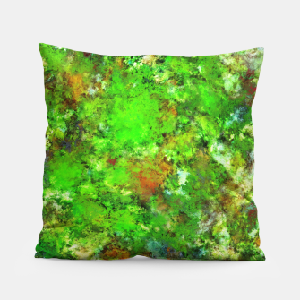 Thumbnail image of Slippery green rocks Pillow, Live Heroes