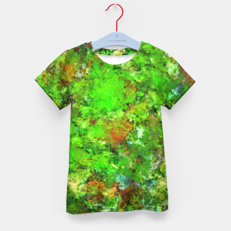 Slippery green rocks Kid's t-shirt thumbnail image