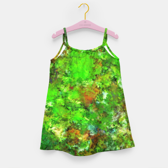 Slippery green rocks Girl's dress thumbnail image