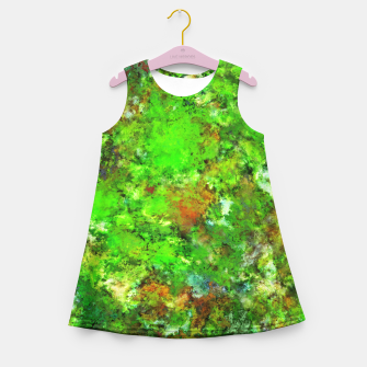 Slippery green rocks Girl's summer dress thumbnail image