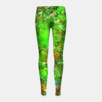 Slippery green rocks Girl's leggings thumbnail image