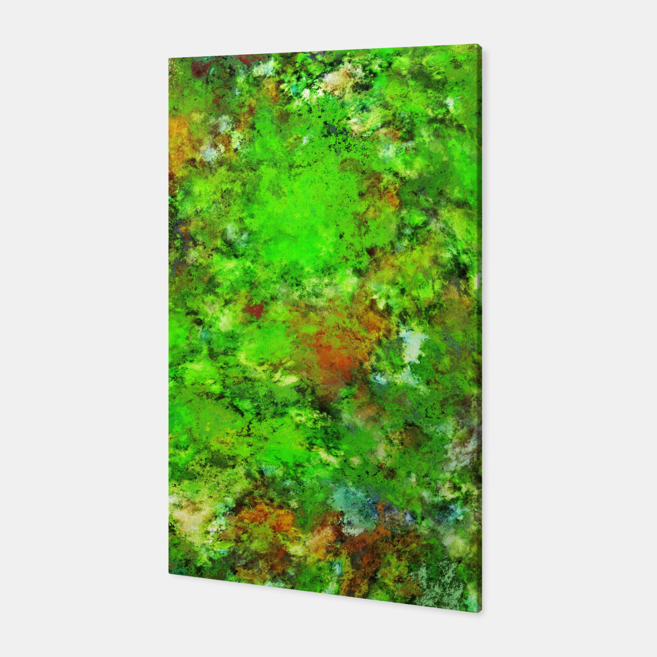 Image of Slippery green rocks Canvas - Live Heroes