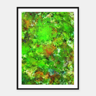 Slippery green rocks Framed poster thumbnail image
