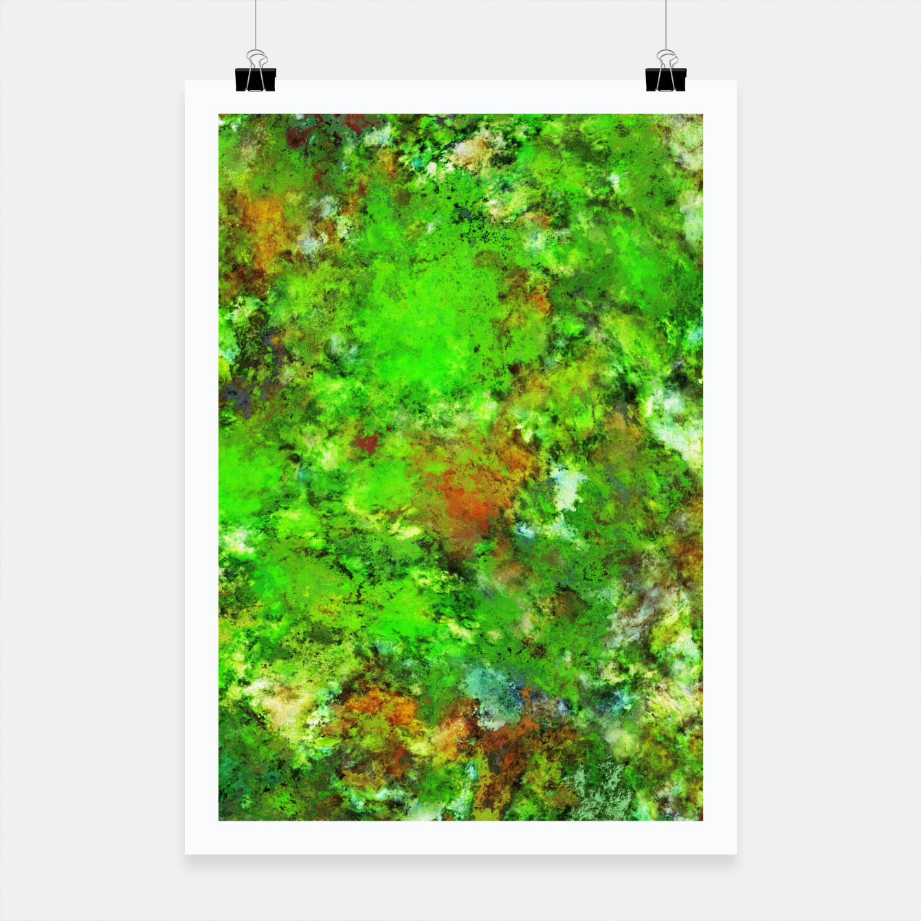 Image of Slippery green rocks Poster - Live Heroes