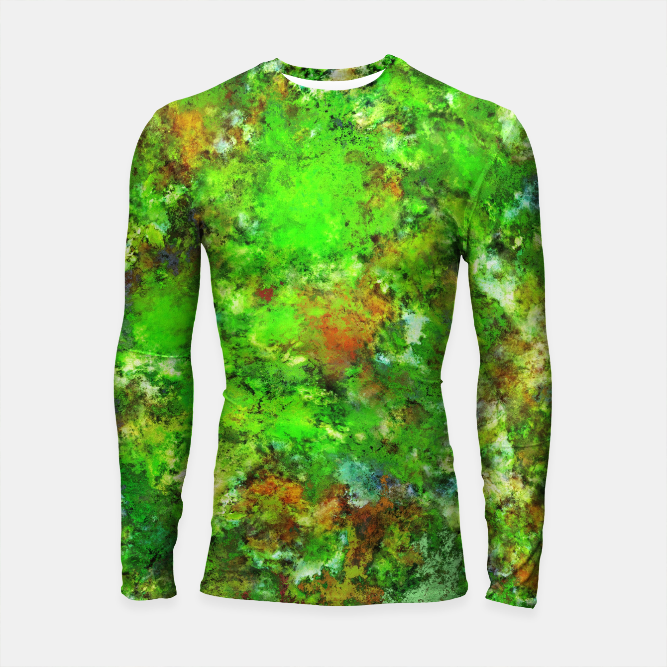 Image of Slippery green rocks Longsleeve rashguard  - Live Heroes