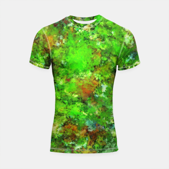 Thumbnail image of Slippery green rocks Shortsleeve rashguard, Live Heroes