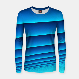 Thumbnail image of BLUE WAVES Women sweater, Live Heroes
