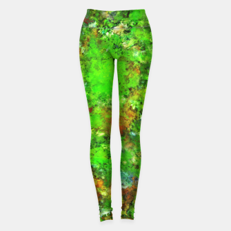 Thumbnail image of Slippery green rocks Leggings, Live Heroes