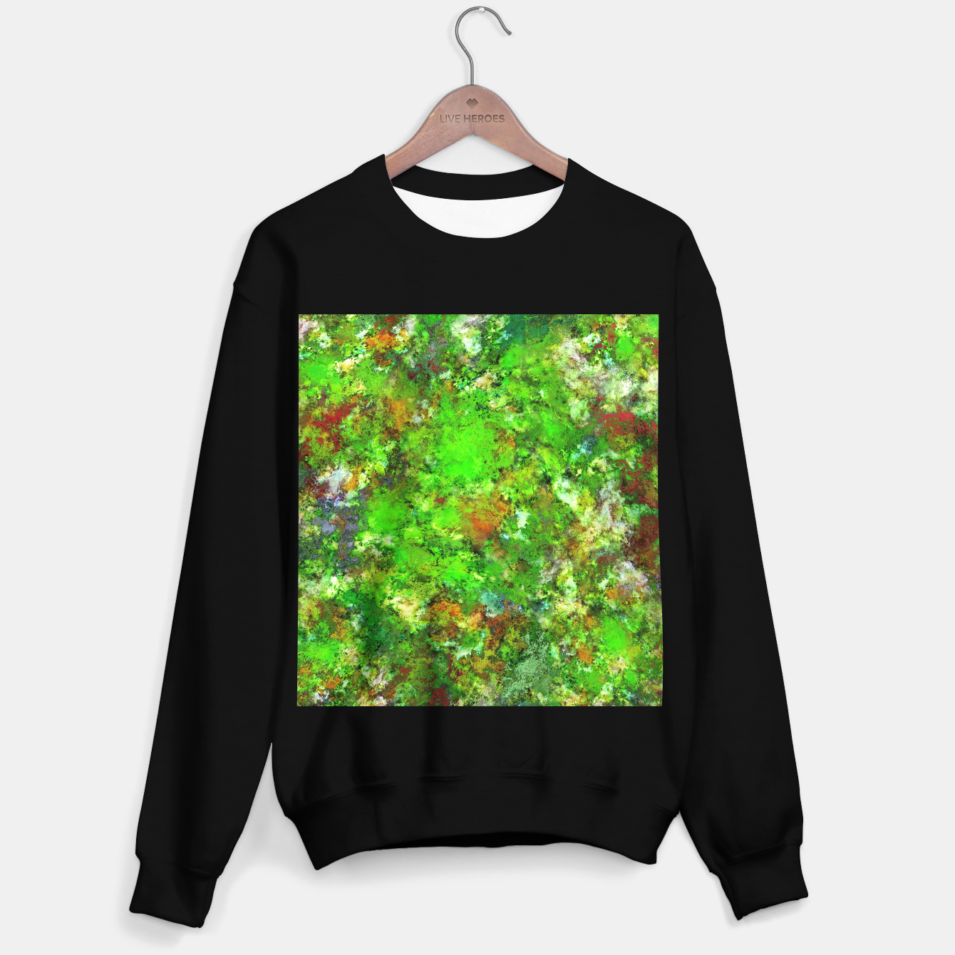 Image of Slippery green rocks Sweater regular - Live Heroes