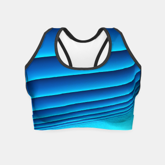 Thumbnail image of BLUE WAVES Crop Top, Live Heroes