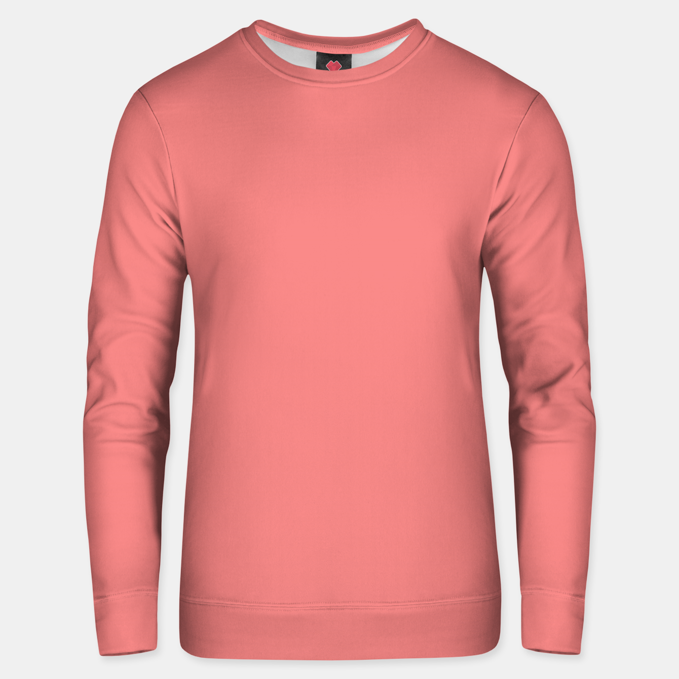 Image of color light coral Unisex sweater - Live Heroes