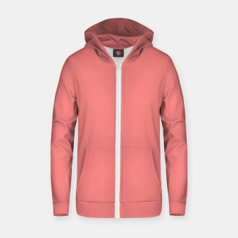 color light coral Zip up hoodie thumbnail image