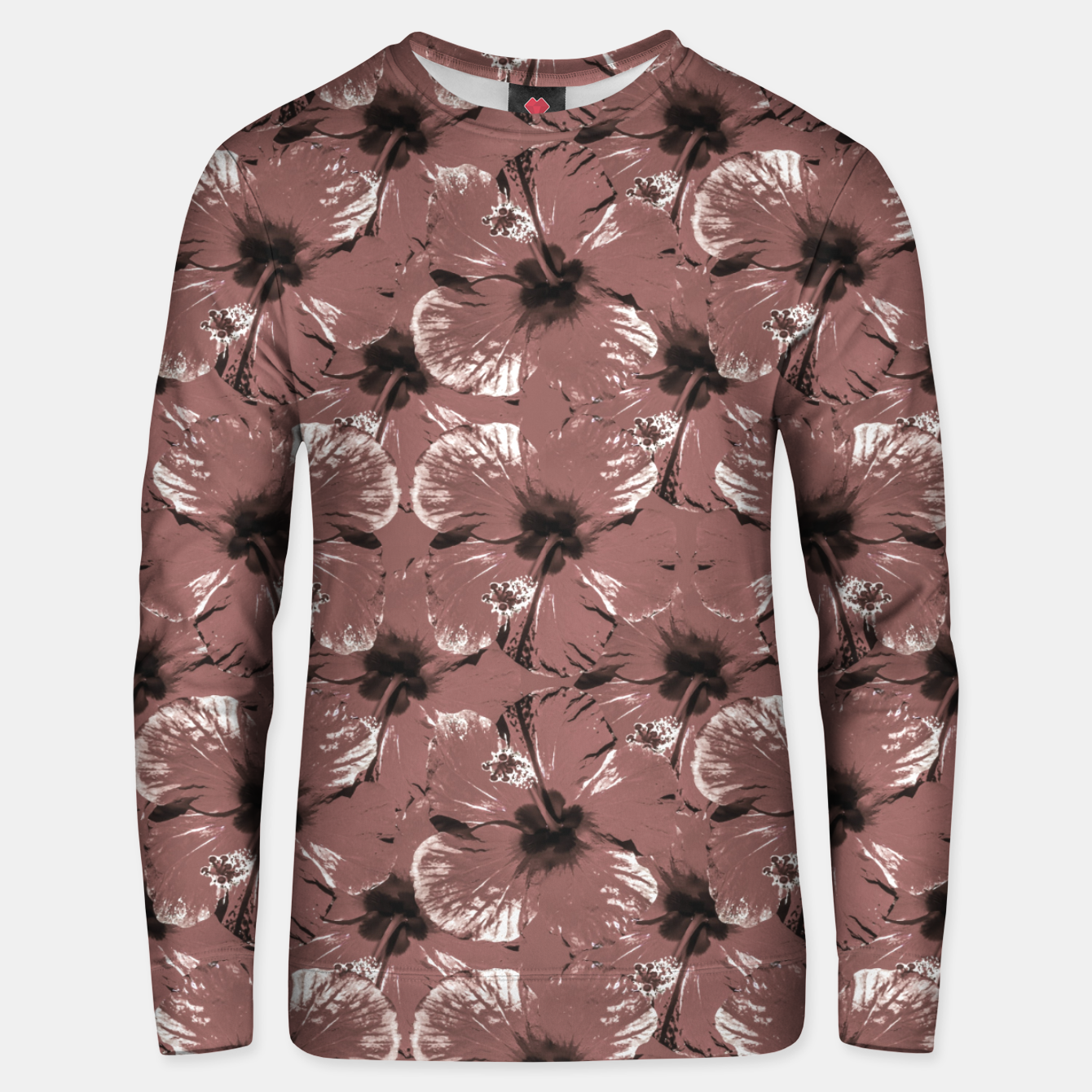Image of Hibiscus Flowers Collage Pattern Design Unisex sweater - Live Heroes