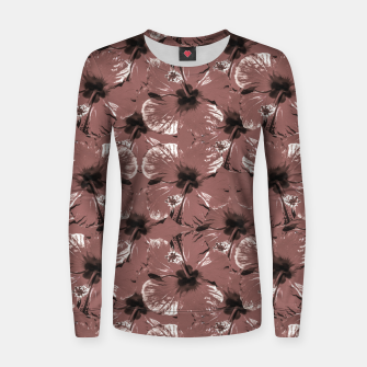 Thumbnail image of Hibiscus Flowers Collage Pattern Design Women sweater, Live Heroes