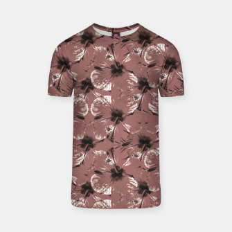 Thumbnail image of Hibiscus Flowers Collage Pattern Design T-shirt, Live Heroes