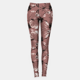 Thumbnail image of Hibiscus Flowers Collage Pattern Design Leggings, Live Heroes