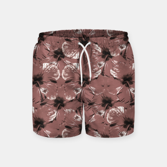 Thumbnail image of Hibiscus Flowers Collage Pattern Design Swim Shorts, Live Heroes