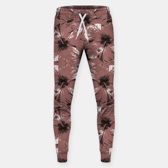 Thumbnail image of Hibiscus Flowers Collage Pattern Design Sweatpants, Live Heroes
