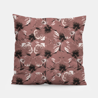 Thumbnail image of Hibiscus Flowers Collage Pattern Design Pillow, Live Heroes