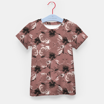 Thumbnail image of Hibiscus Flowers Collage Pattern Design Kid's t-shirt, Live Heroes