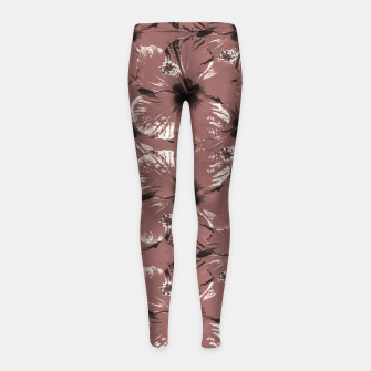 Thumbnail image of Hibiscus Flowers Collage Pattern Design Girl's leggings, Live Heroes