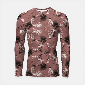 Thumbnail image of Hibiscus Flowers Collage Pattern Design Longsleeve rashguard , Live Heroes