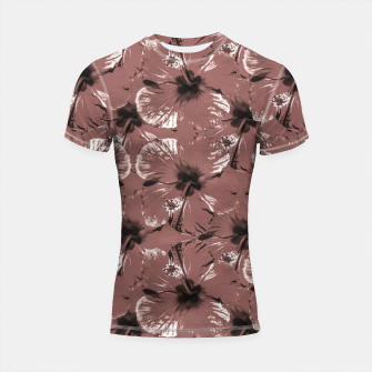 Thumbnail image of Hibiscus Flowers Collage Pattern Design Shortsleeve rashguard, Live Heroes