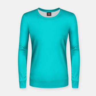 Thumbnail image of color dark turquoise Women sweater, Live Heroes
