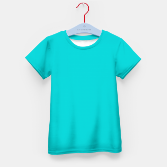 Thumbnail image of color dark turquoise Kid's t-shirt, Live Heroes