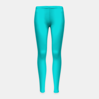 Thumbnail image of color dark turquoise Girl's leggings, Live Heroes