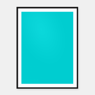 Thumbnail image of color dark turquoise Framed poster, Live Heroes