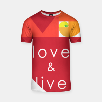 Thumbnail image of love and live Camiseta, Live Heroes