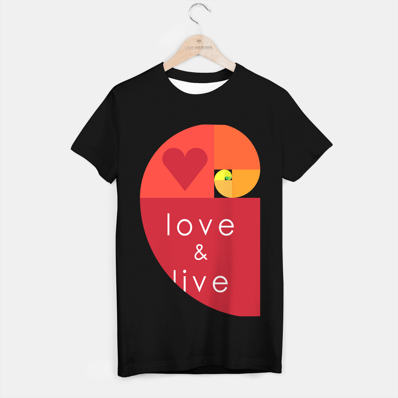 Image of love and live Camiseta Regular - Live Heroes