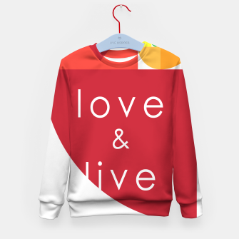 Thumbnail image of love and live Sudadera para niños, Live Heroes