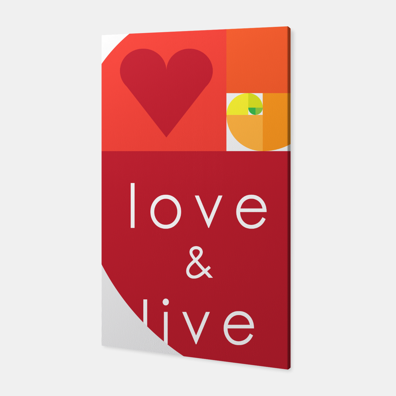 Image of love and live Canvas - Live Heroes
