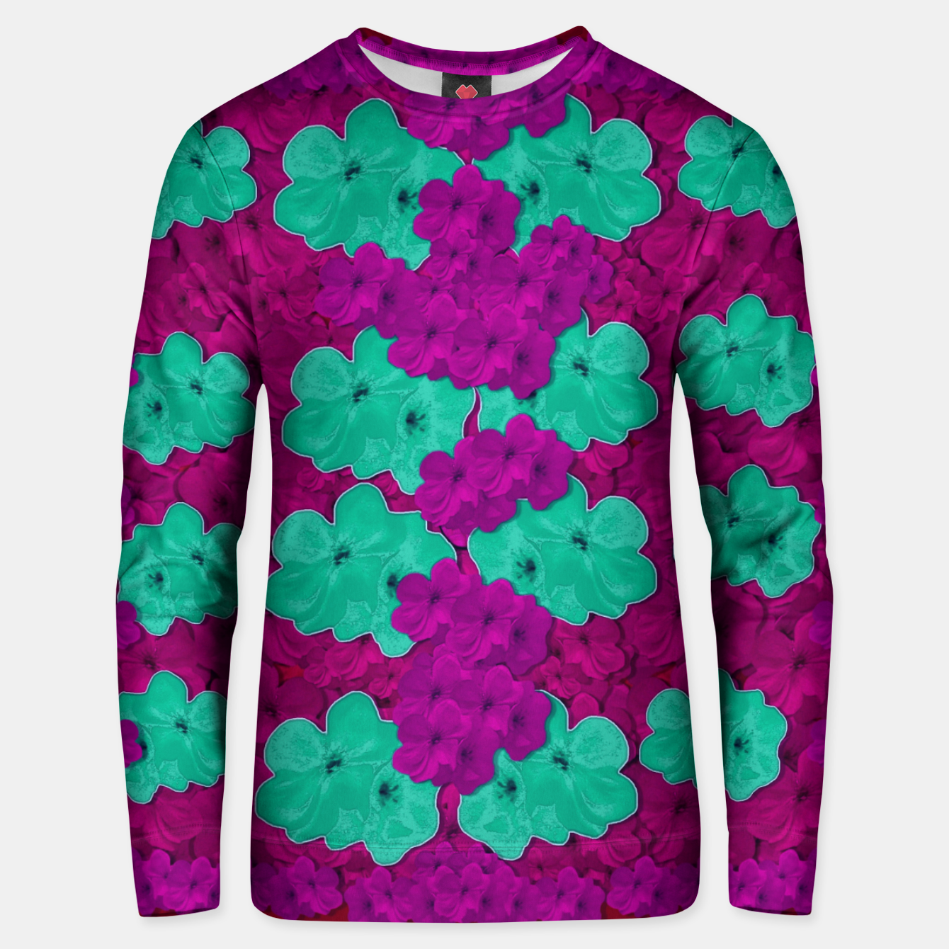Image of Floral and  more florals   popart Unisex sweater - Live Heroes