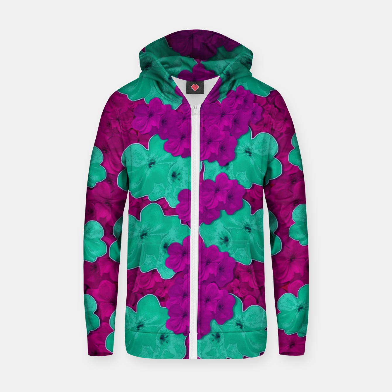 Foto Floral and  more florals   popart Zip up hoodie - Live Heroes