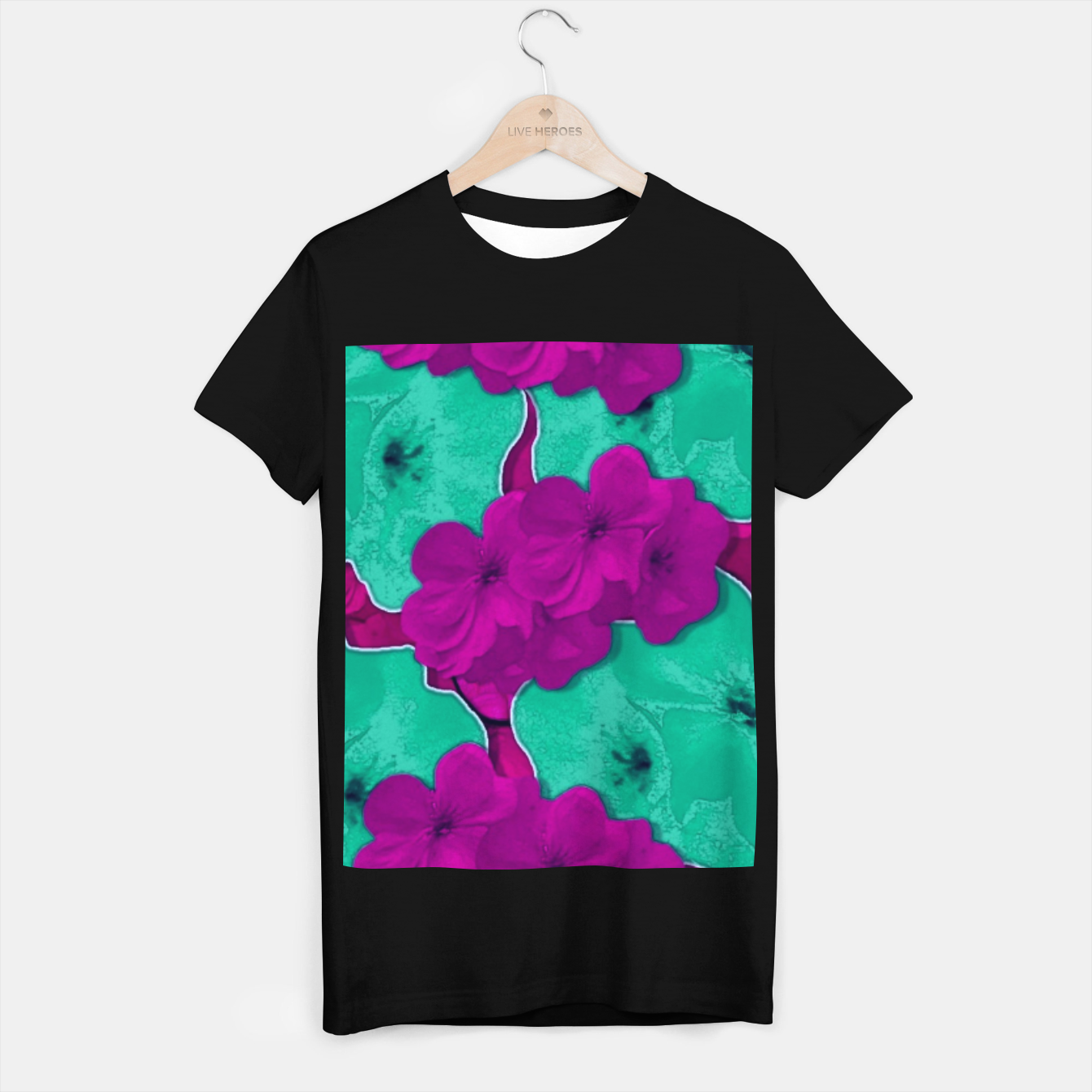 Foto Floral and  more florals   popart T-shirt regular - Live Heroes