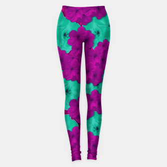 Miniatur Floral and  more florals   popart Leggings, Live Heroes