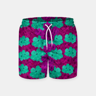 Miniatur Floral and  more florals   popart Swim Shorts, Live Heroes
