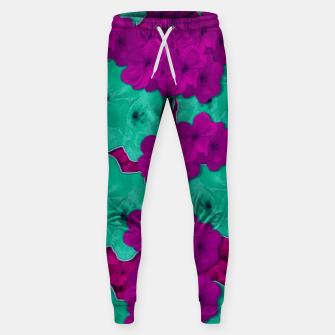 Miniatur Floral and  more florals   popart Sweatpants, Live Heroes