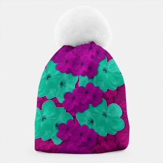 Floral and  more florals   popart Beanie thumbnail image