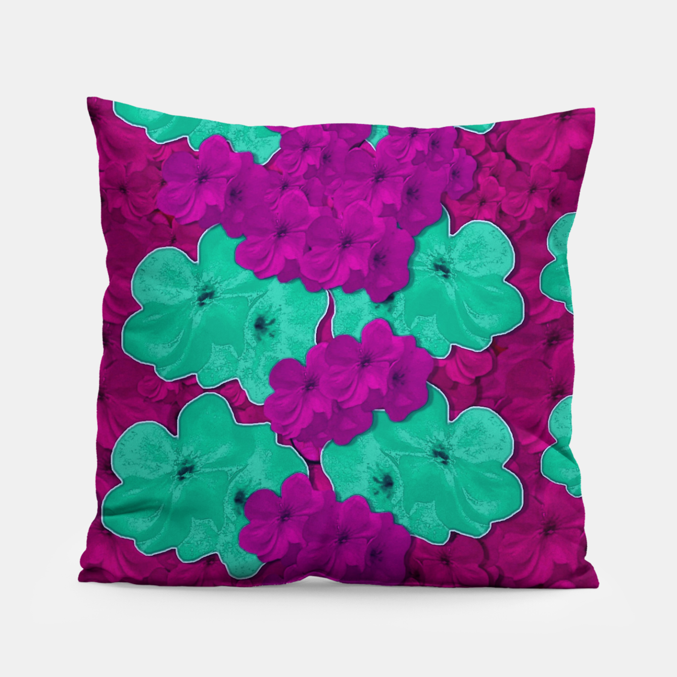 Foto Floral and  more florals   popart Pillow - Live Heroes