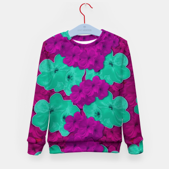 Floral and  more florals   popart Kid's sweater Bild der Miniatur